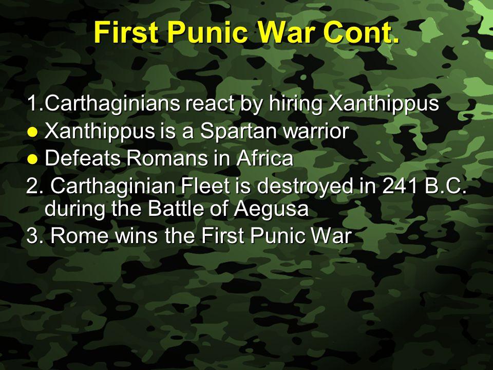 Slide 14 First Punic War Cont.