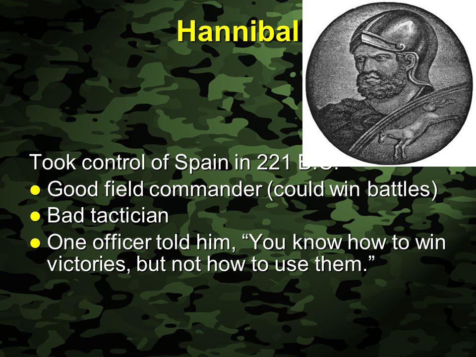Slide 15 Hannibal Took control of Spain in 221 B.C.