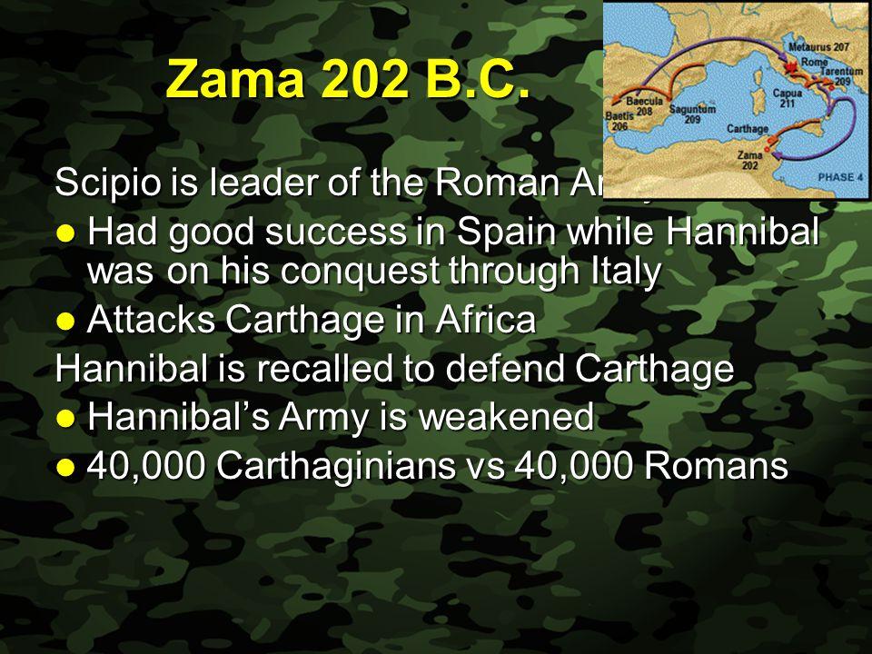 Slide 27 Zama 202 B.C.