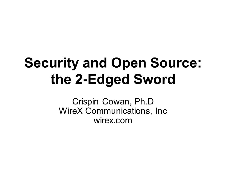 Reliability and Security Reliable software does what it is supposed to do.Secure software does what it is supposed to do … and nothing else.