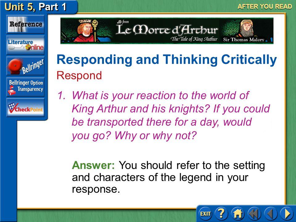 Unit 5, Part 1 Le Morte d'Arthur