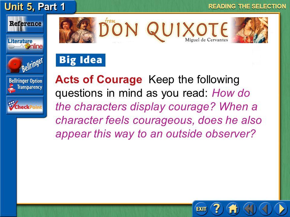 Unit 5, Part 1 Don Quixote