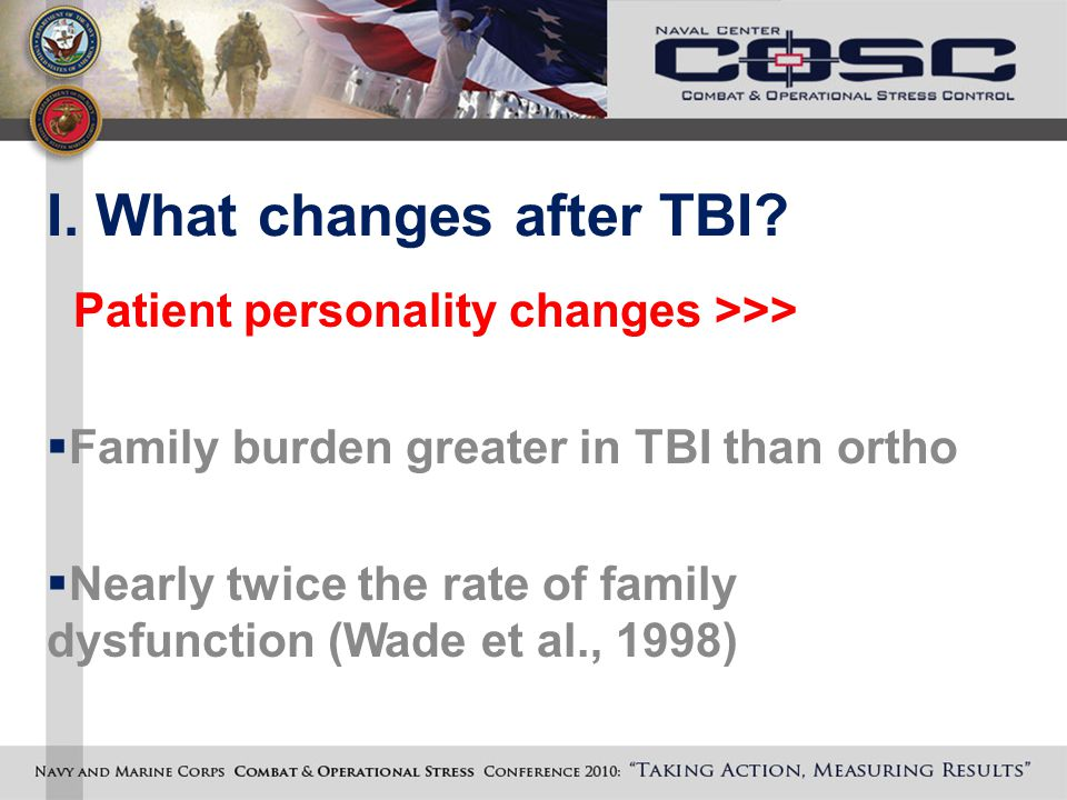 I. What changes after TBI.