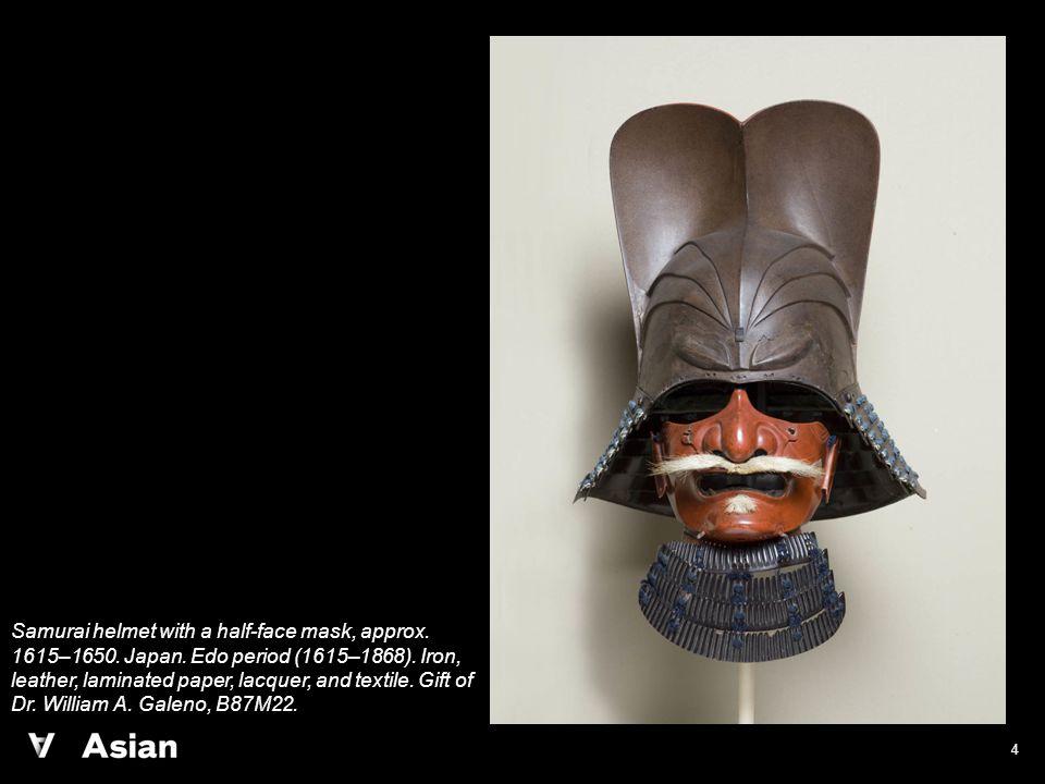 4 Samurai helmet with a half-face mask, approx. 1615–1650.