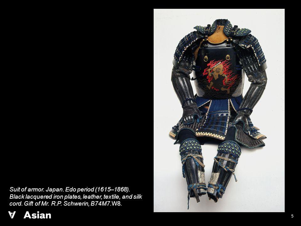 5 Suit of armor. Japan. Edo period (1615–1868).