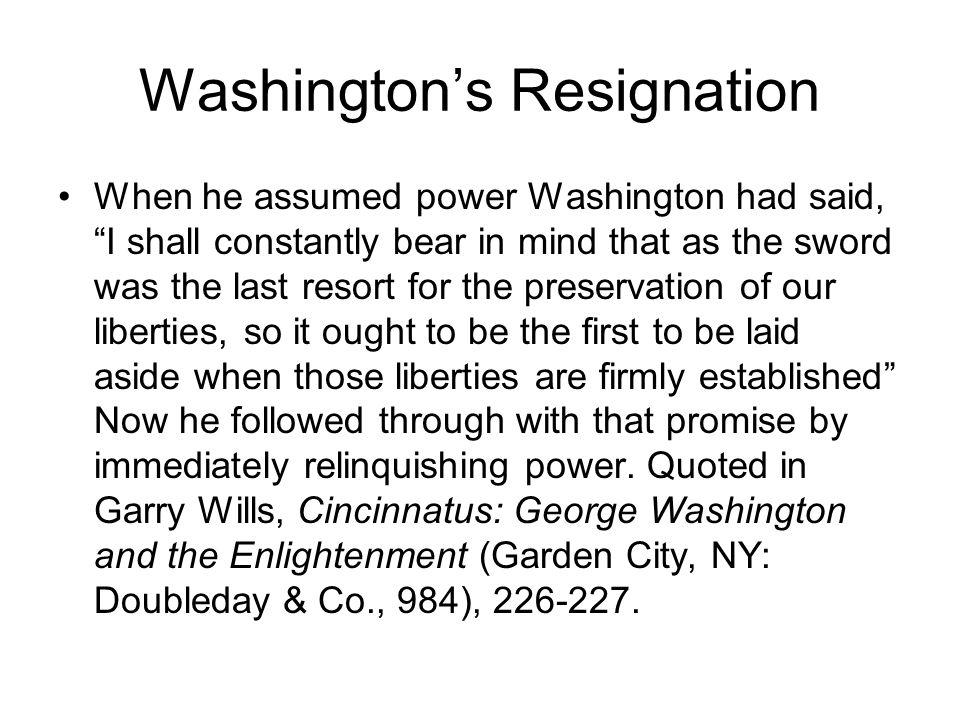 Washington's Resignation