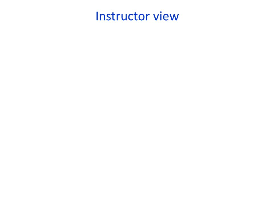 Instructor view
