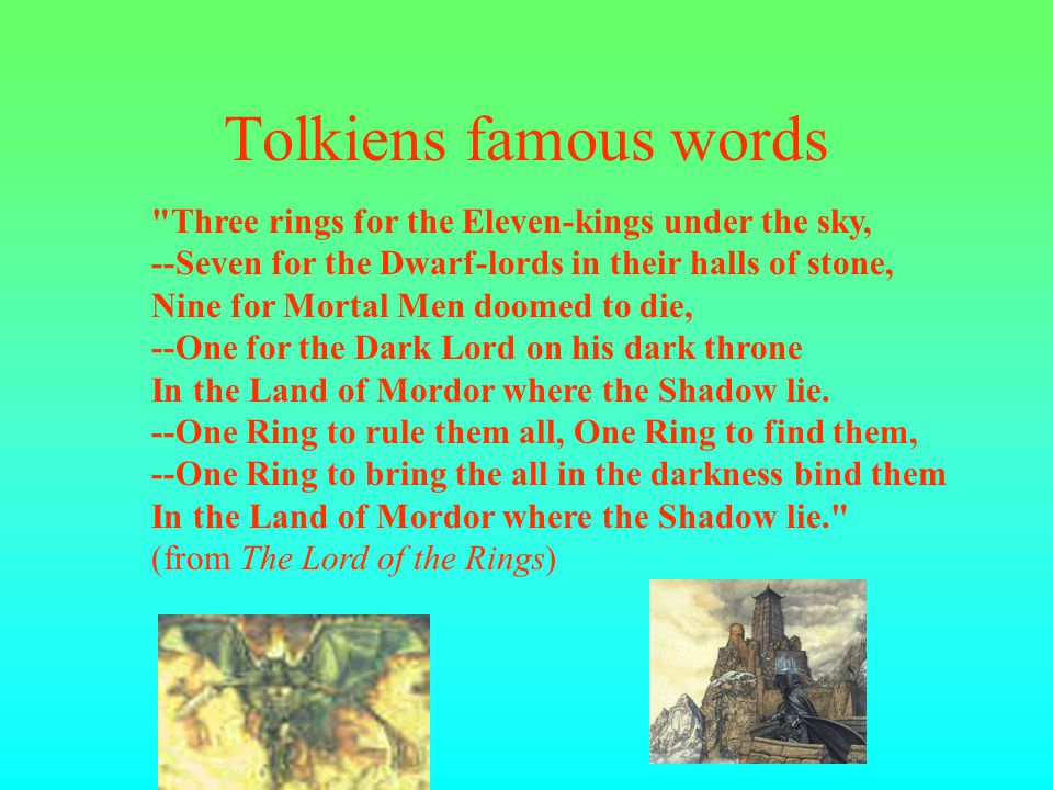1973 In 1973 Tolkien dies at age 81.At that time his last novels are published.
