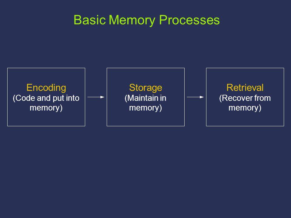 Three Types of Memory Iconic (Sensory) Memory: 100-300 msec.