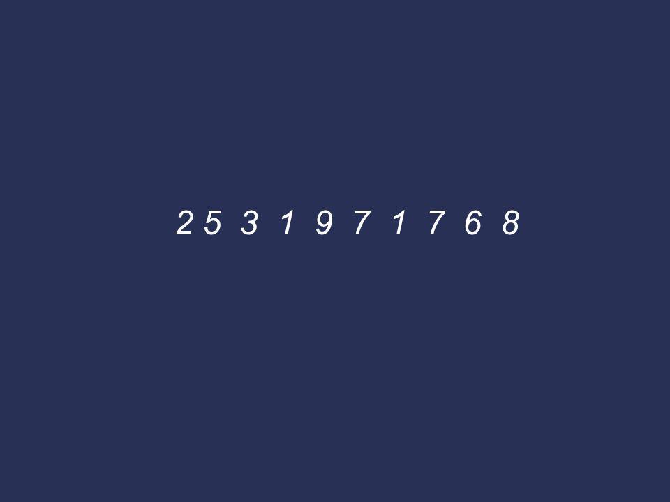 2 5 3 1 9 7 1 7 6 8
