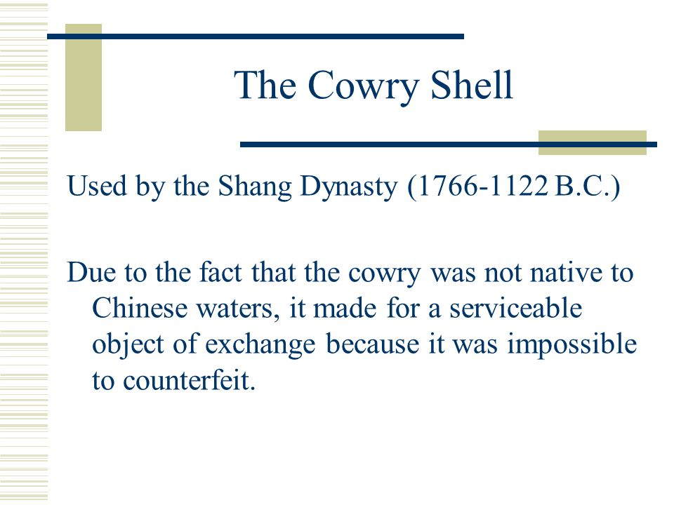 The cowry Shell