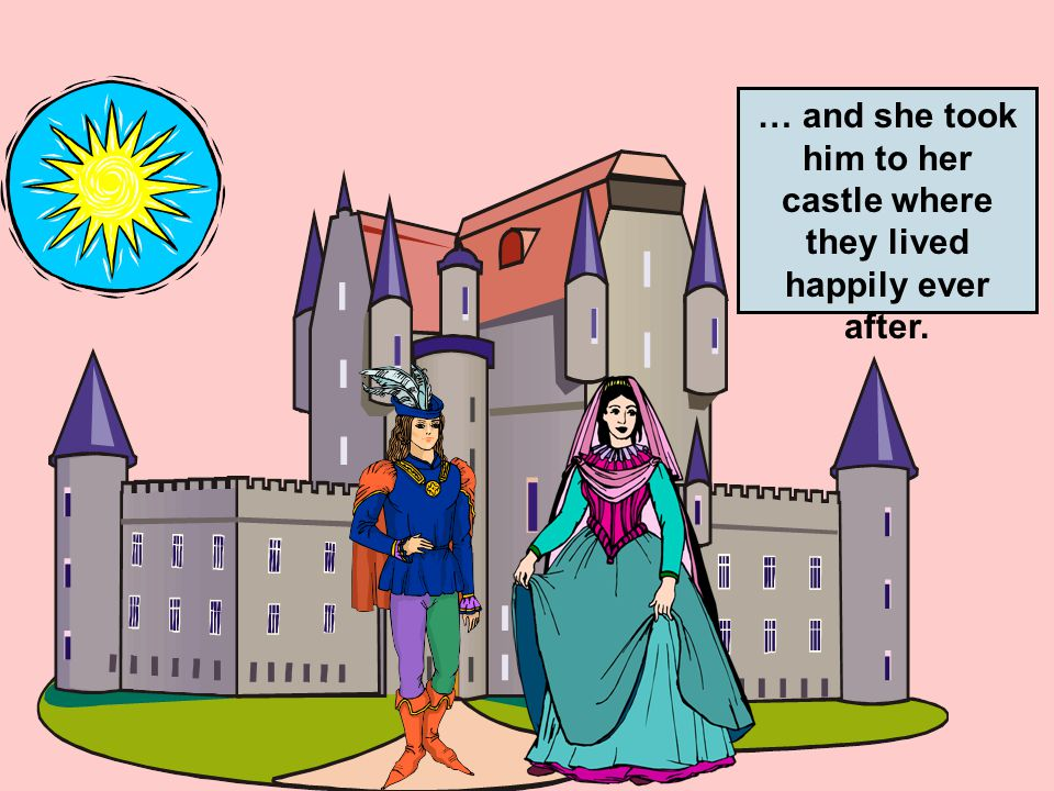 When the prince walked up to the knight, the knight took off his armor … … and a beautiful princess stood in front of him.