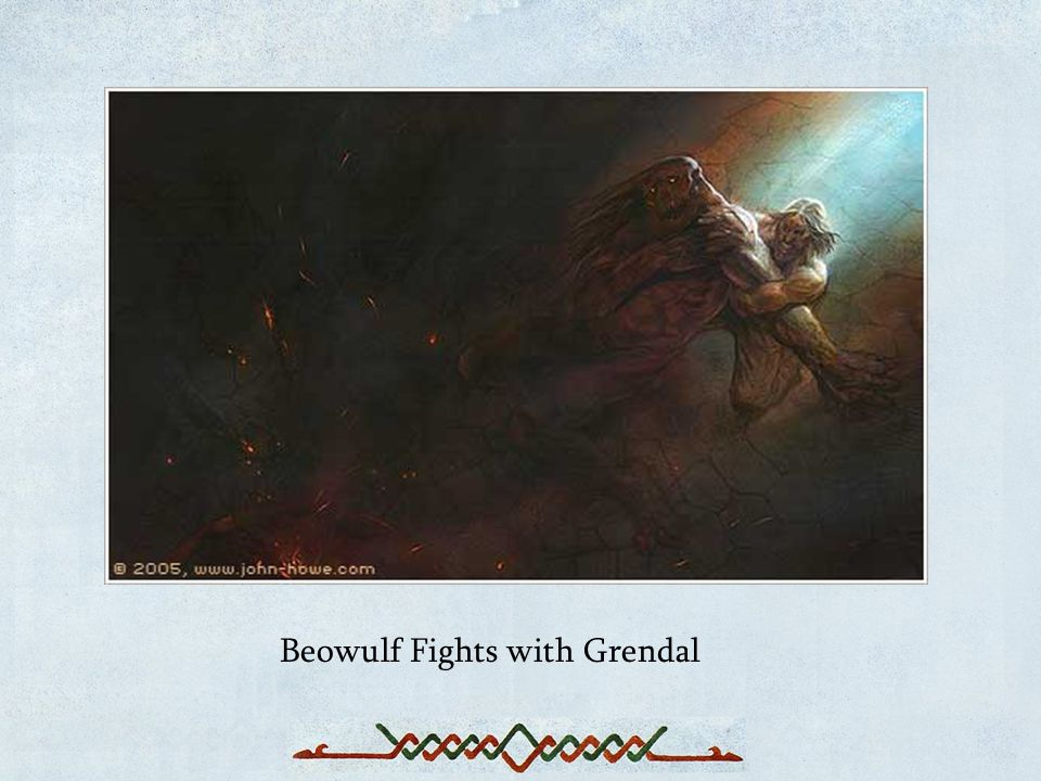 Beowulf Fights with Grendal