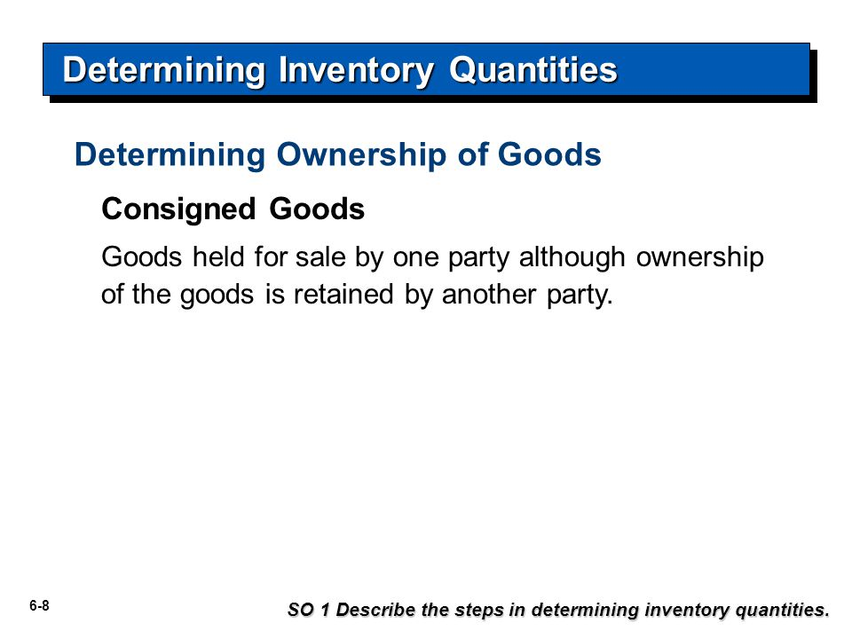 6-29 Inventory Costing SO 4 Explain the lower-of-cost-or-market basis of accounting for inventories.