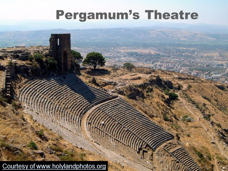 Pergamum's Theatre Courtesy of www.holylandphotos.org