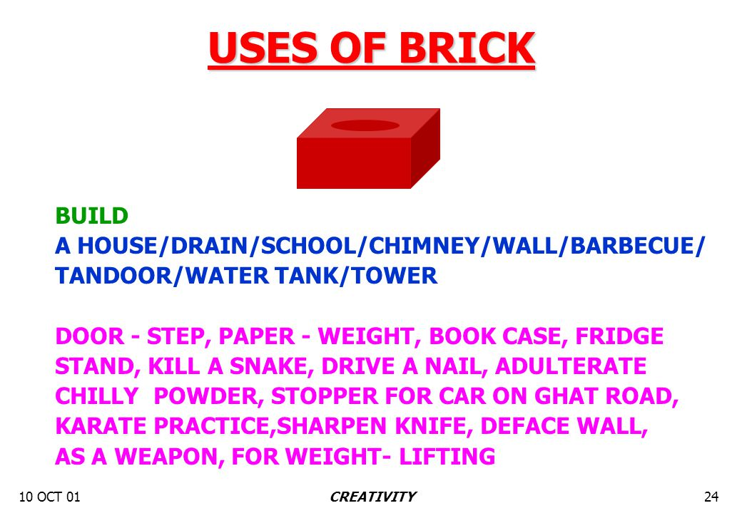 10 OCT 0124CREATIVITY BUILD A HOUSE/DRAIN/SCHOOL/CHIMNEY/WALL/BARBECUE/ TANDOOR/WATER TANK/TOWER DOOR - STEP, PAPER - WEIGHT, BOOK CASE, FRIDGE STAND,