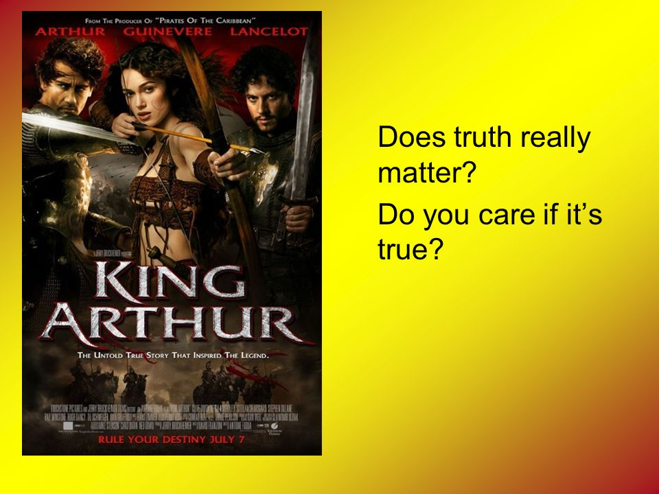 Does truth really matter Do you care if it's true