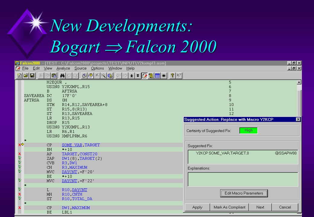 New Developments: Bogart  Falcon 2000