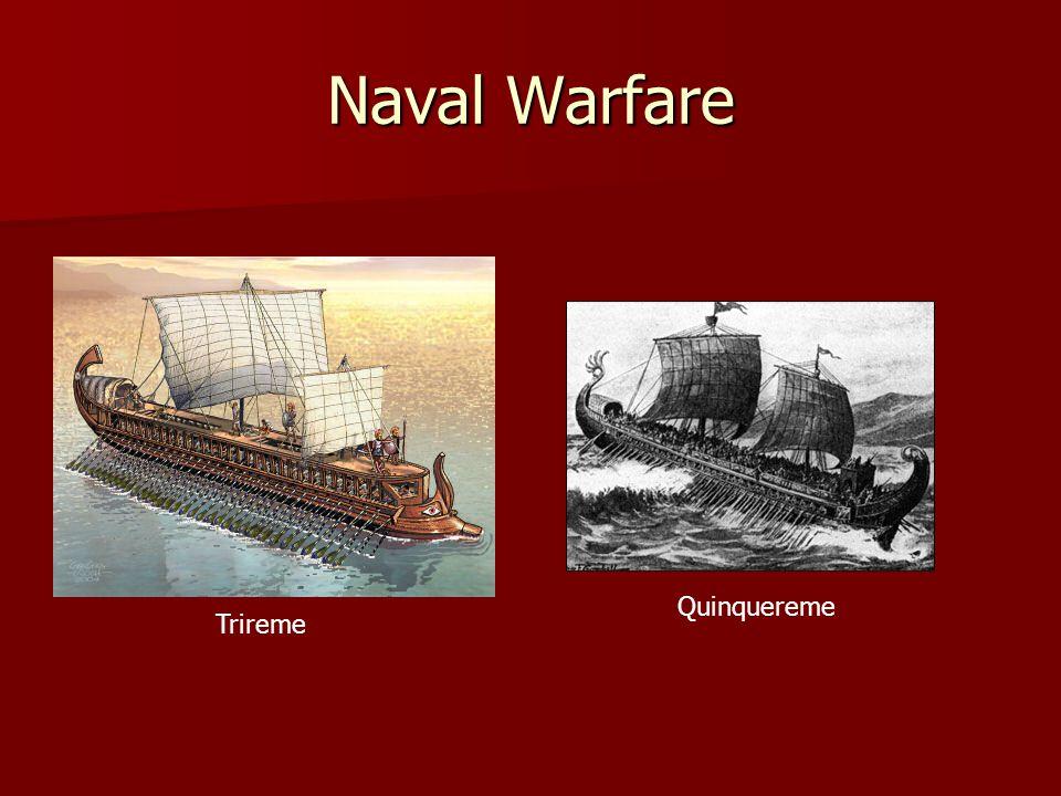 Naval Warfare Quinquereme Trireme
