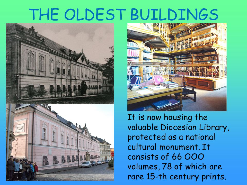 It is now housing the valuable Diocesian Library, protected as a national cultural monument.