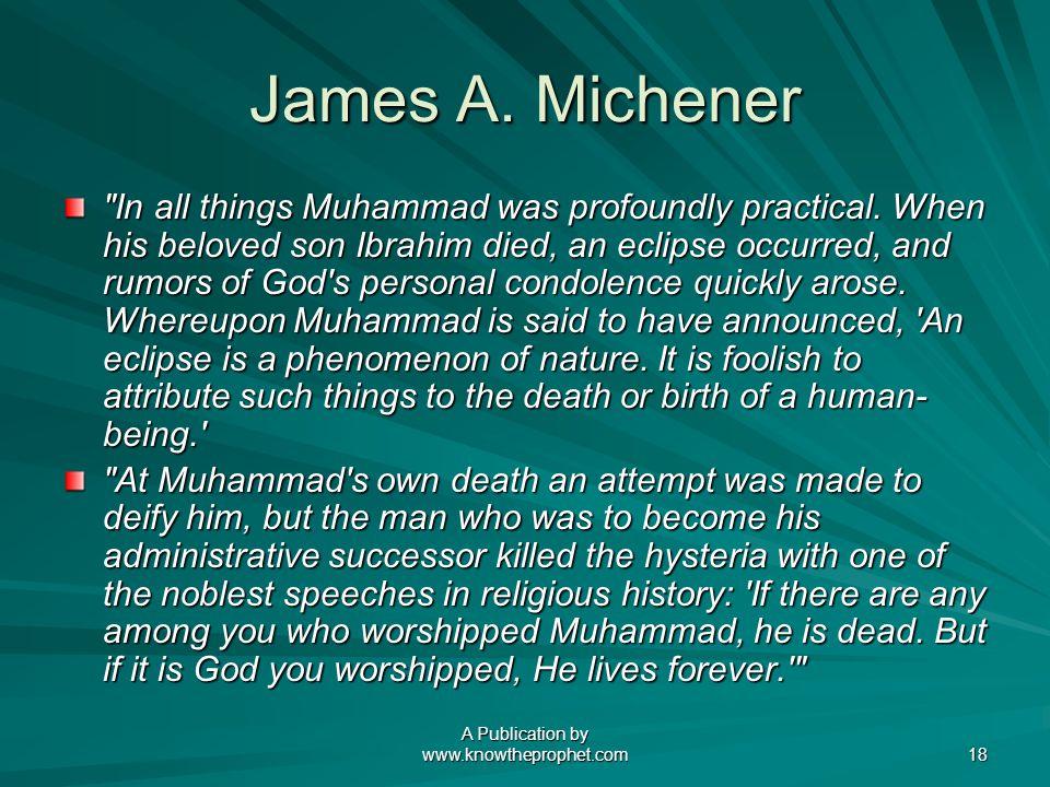 A Publication by www.knowtheprophet.com 18 James A.