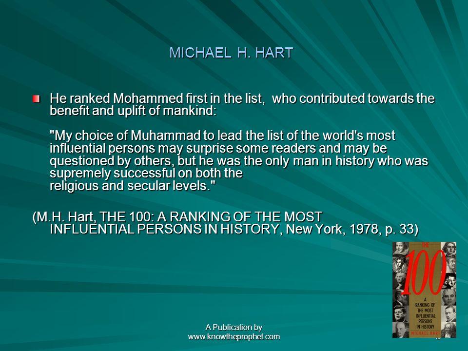 A Publication by www.knowtheprophet.com 3 MICHAEL H.