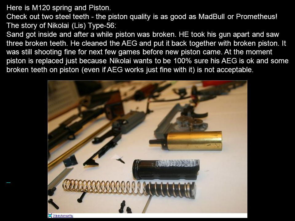 Here is M120 spring and Piston.