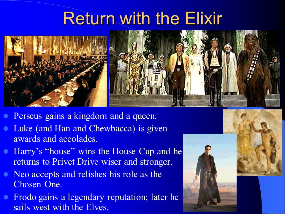 Return with the Elixir Perseus gains a kingdom and a queen.