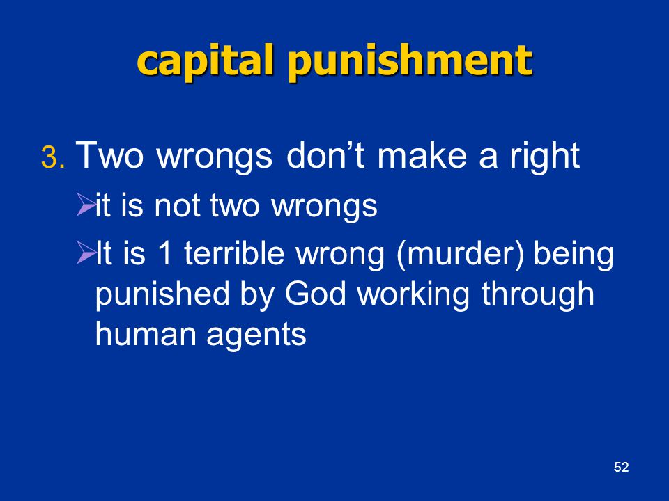 capital punishment 3.