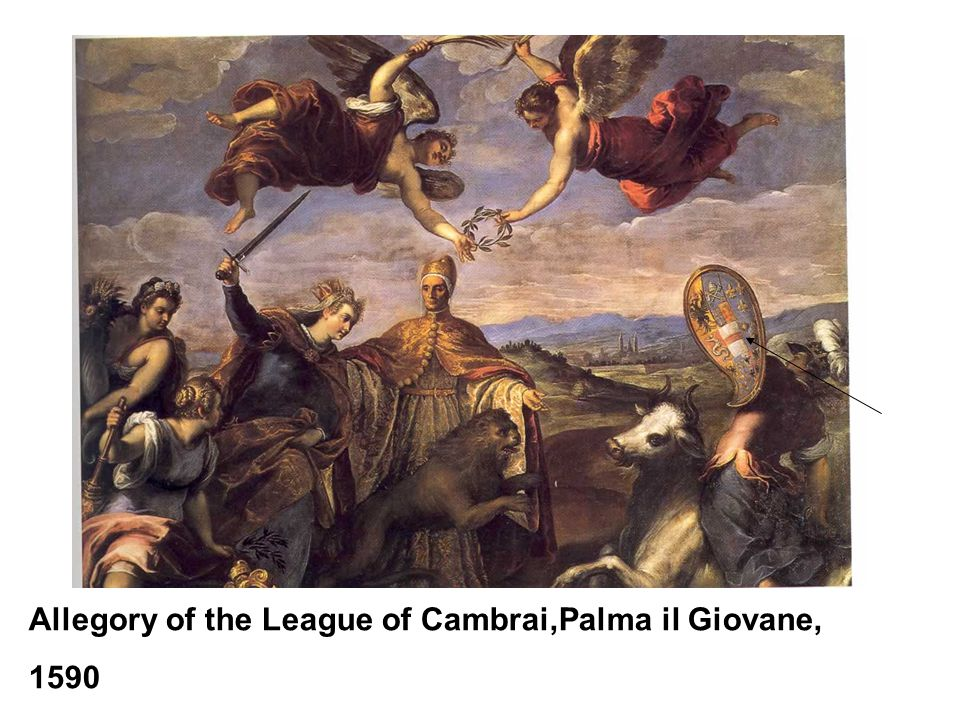 Allegory of the League of Cambrai,Palma il Giovane, 1590