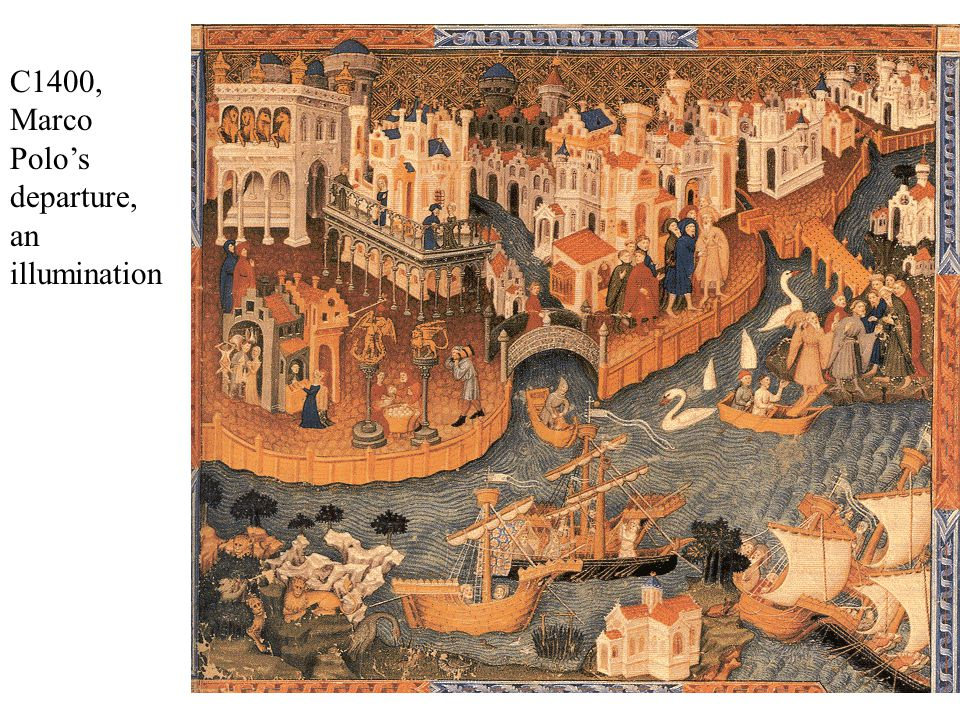 C1400, Marco Polo's departure, an illumination