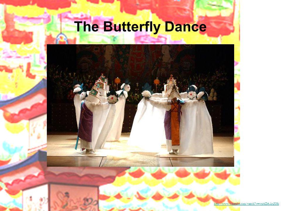 Folk dance Farmers' Dance Kanggang-suwollae Monk's Dance Flower-crown Dance Fan Dance Salp'uri