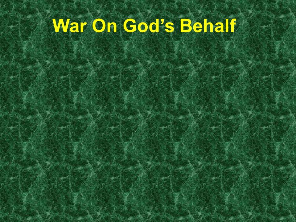 War On God's Behalf