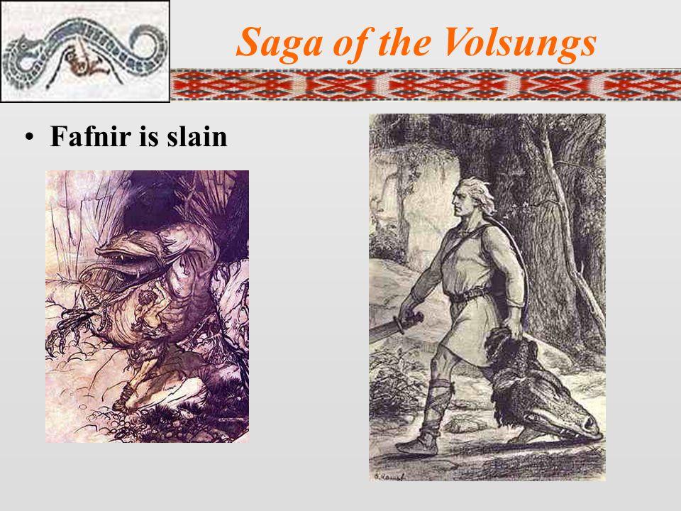 Saga of the Volsungs Fafnir is slain