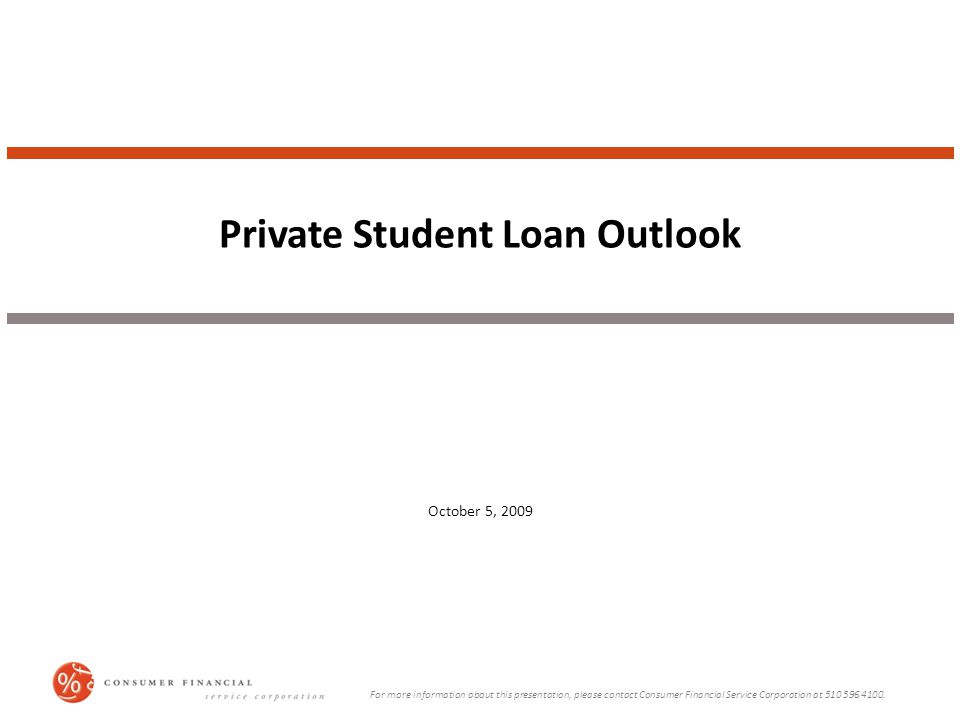 Project Approach To gain insight into student lenders' policies and practices, Consumer Financial Service Corporation (CFSC) completed the following: ● Solicited interviews from almost 300 current or past employees of lenders, college financial aid offices, investment banks, and other organizations related to student loans.