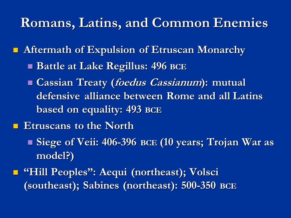 Blue = Latini; Red = Samnite; Caudine Forks marked (ca. 350 BCE)