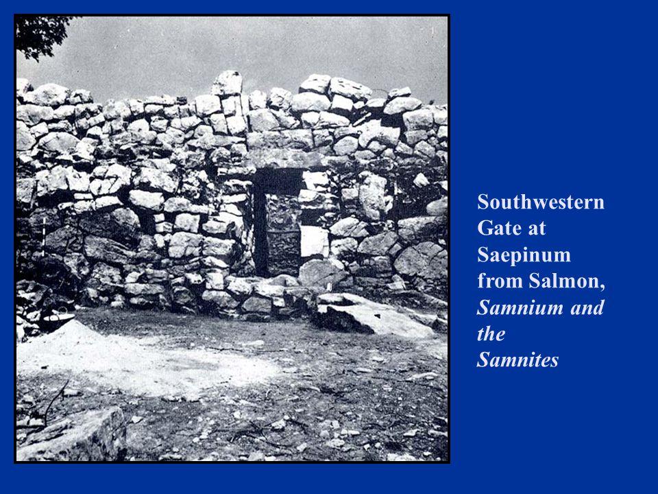 Southwestern Gate at Saepinum from Salmon, Samnium and the Samnites
