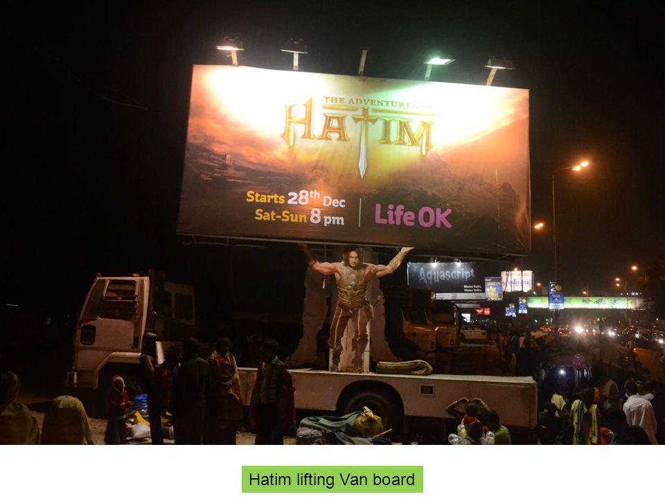Mahim causeway ET 20x10 Hatim lifting Van board