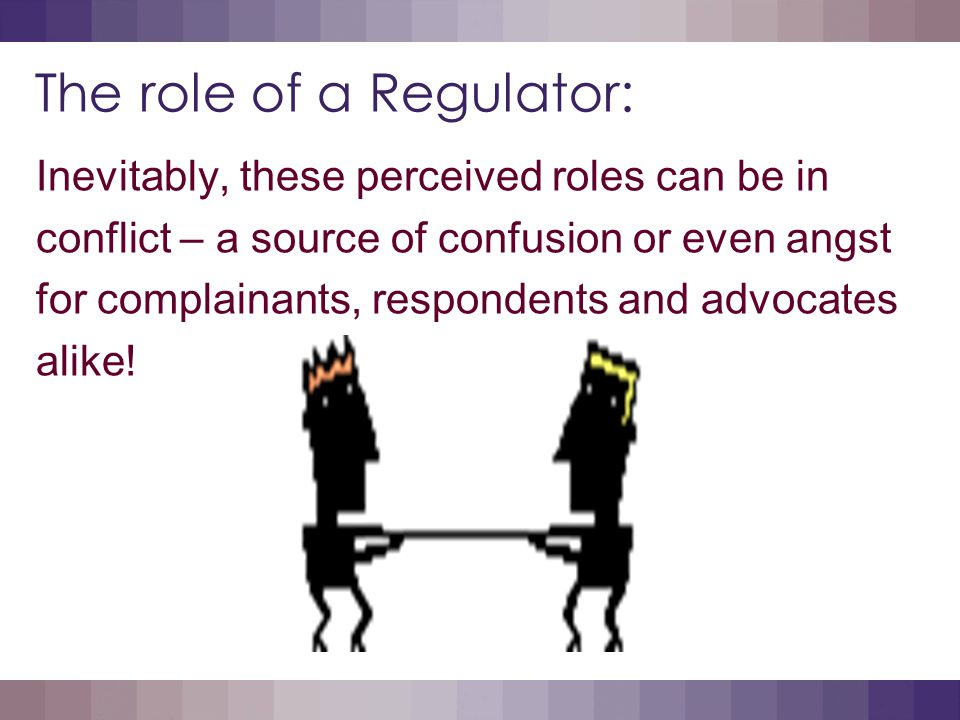 The role of a Regulator: Perhaps an example will assist: The layered form or Full and complete information