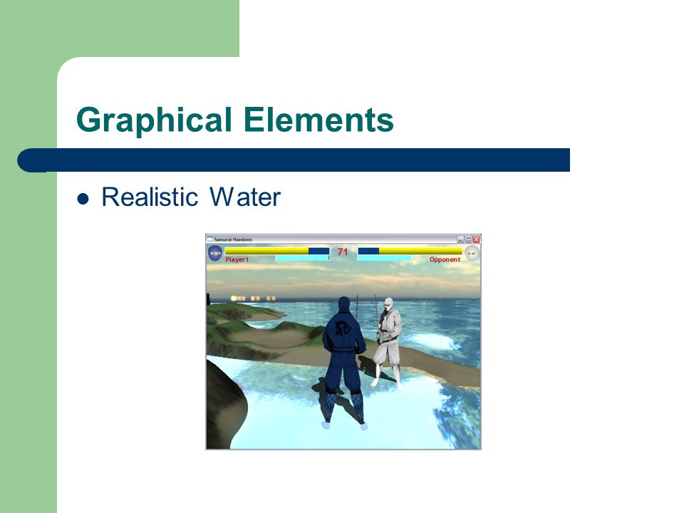 Graphical Elements Realistic Water