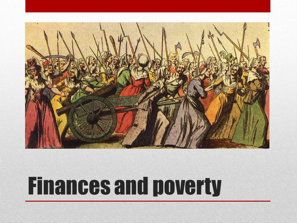 Finances and poverty