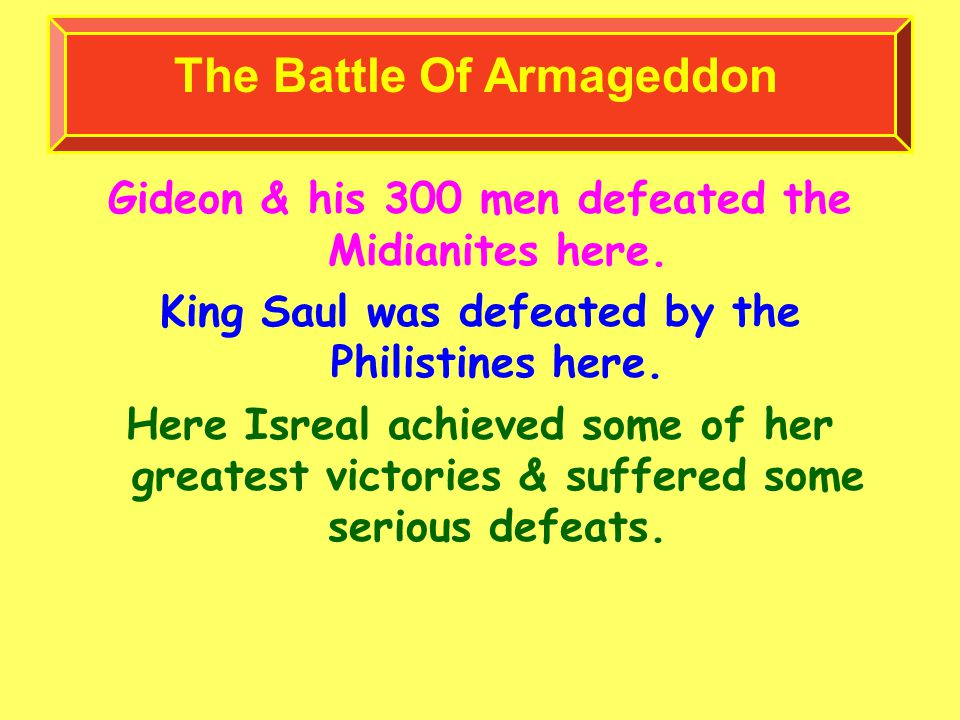 Gideon & his 300 men defeated the Midianites here.