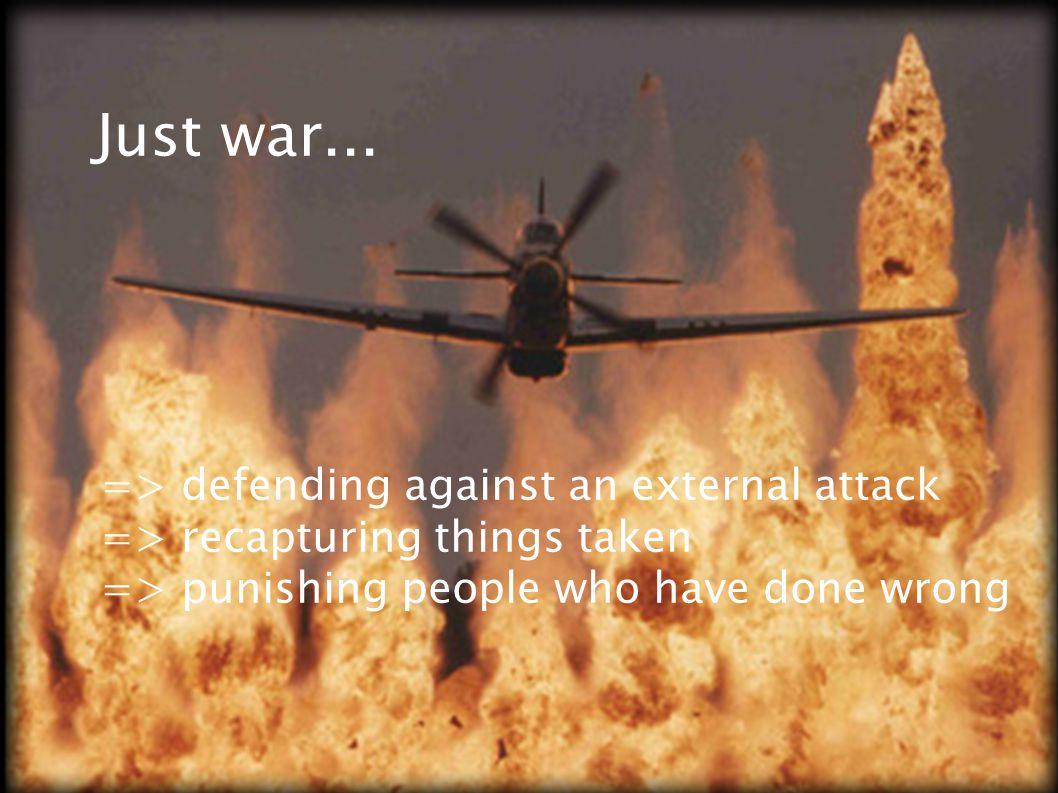 Just war...