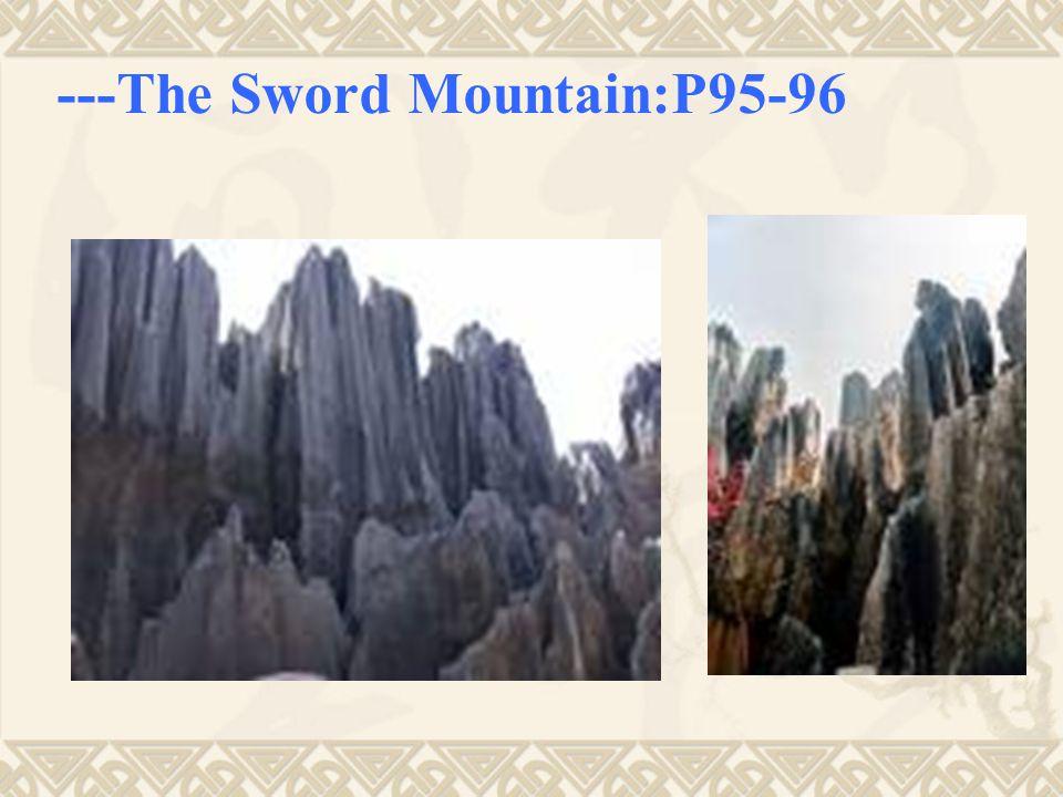 ---The Sword Mountain:P95-96