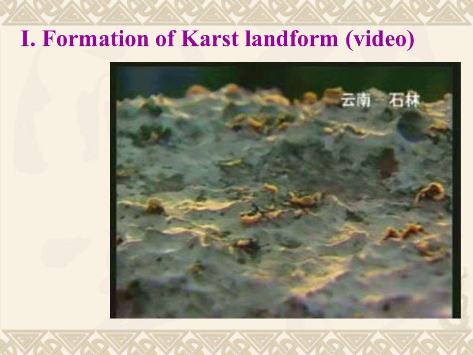 I. Formation of Karst landform (video)