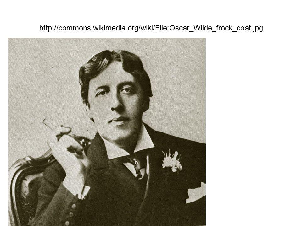 http://commons.wikimedia.org/wiki/File:Oscar_Wilde_frock_coat.jpg