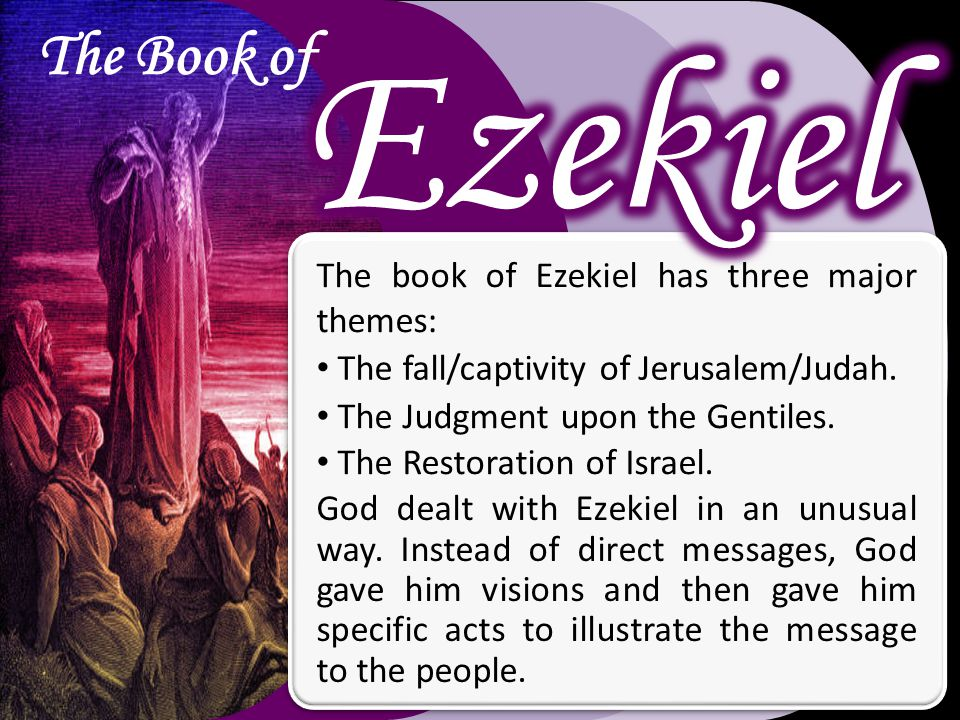 The book of Ezekiel has three major themes: The fall/captivity of Jerusalem/Judah.