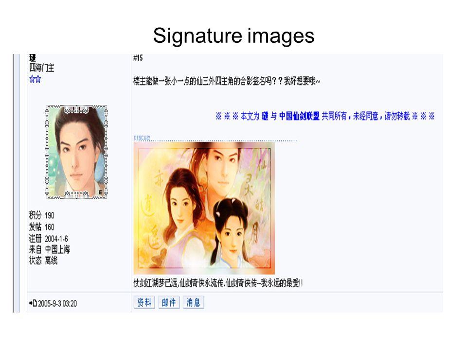Signature images