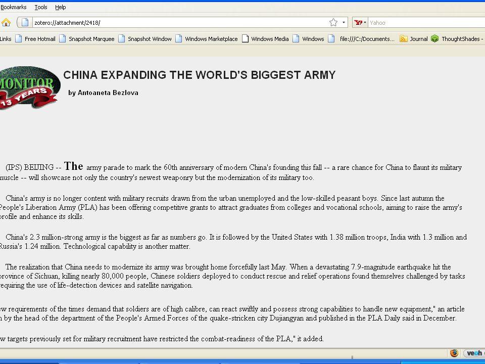 Communist China: 2.3 Million Man Army