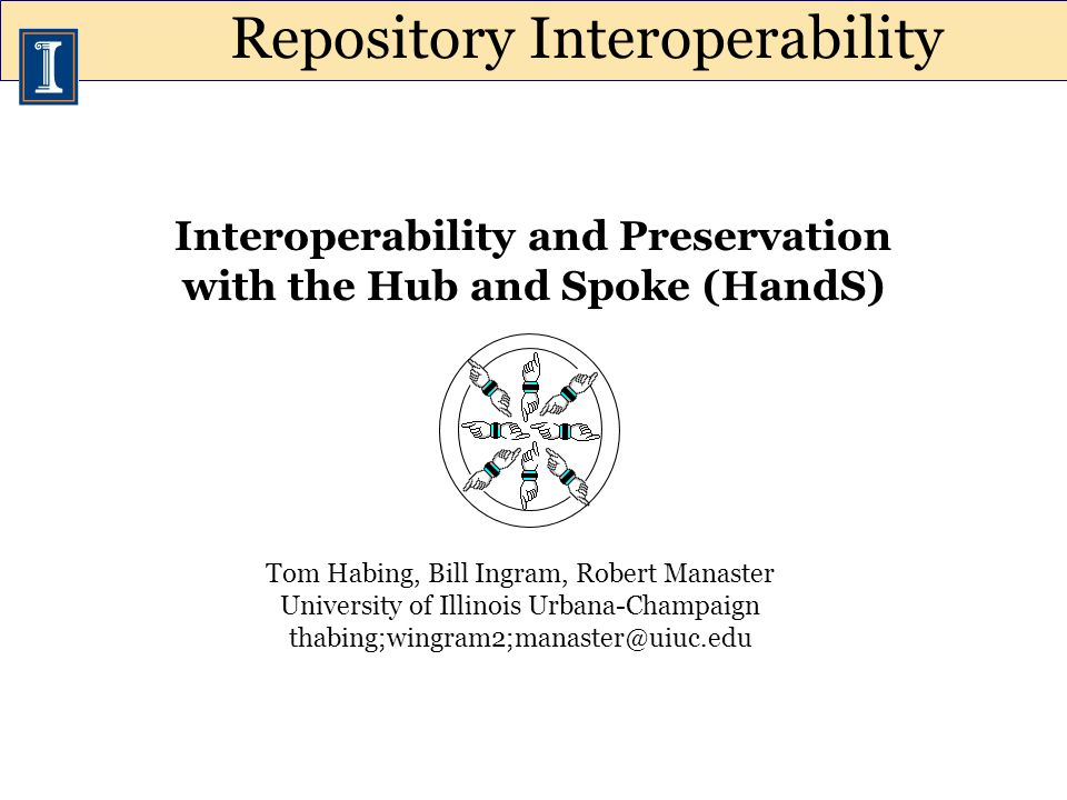 Interoperability is useful in its own right, but it is also important for preservation –Out-of-the-box repository interoperability is low –Institutions commonly rely on multiple repositories –Repository support for emerging preservation standards is low –Repositories change over time Key Ideas